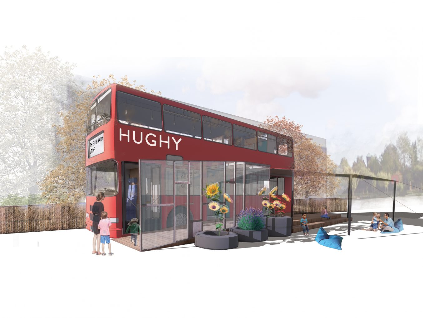 Hughy the Library Bus